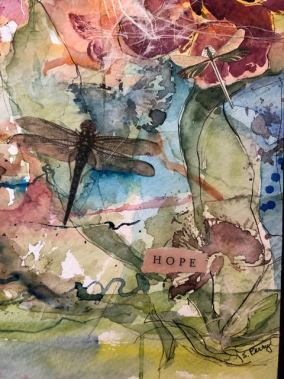 """""""The Last Gardner in Aleppo,"""" by Artist and Charmed Studio subscriber Sheryl Perry. 8""""x10"""" Mixed Media Collage on Arches Rough Art Board- 2016. In Alternative Blog Post Ideas for Artists"""
