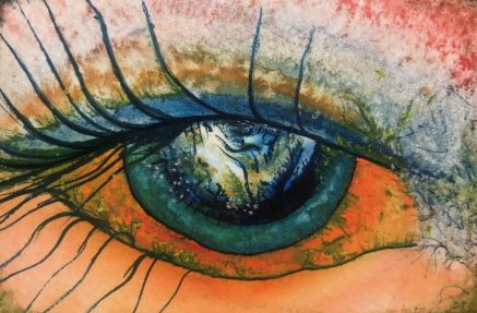 Eye Painting by Harlequin Boots for How Art Can Heal A Broken Heart