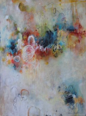abstract painting for 51 Blog post topics for heart-centered artists