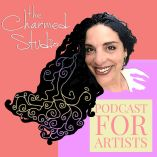 The Charmed studio podcast for artists with host Thea Fiore Bloom , free resources for artists page