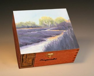 Cigar box art for Artists statement post