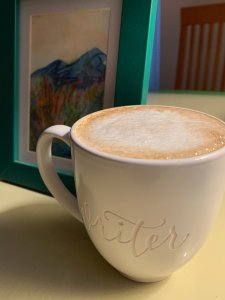 Donna's WRITER mug for writing ritual post