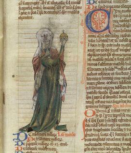 Trotula, great female scientist , medieval book illustration
