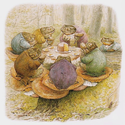 """Toad's Tea Party,"" by Beatrix Potter."