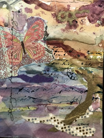 mixed media butterfly art for attract visitors to your website