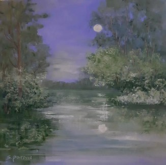 oil scene of moonlight on a lake for How artists can make more money,