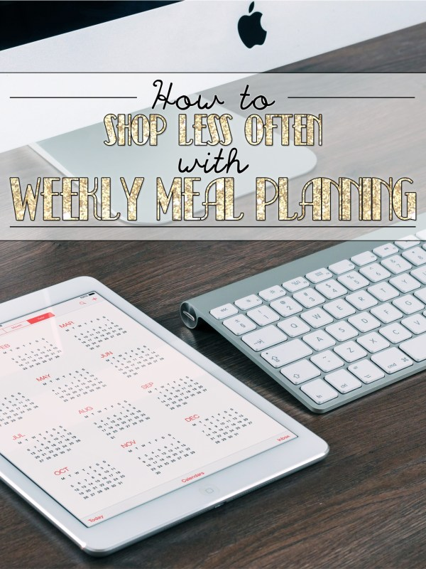 How to Shop Less Often with Weekly Meal Planning | The Charming Detroiter