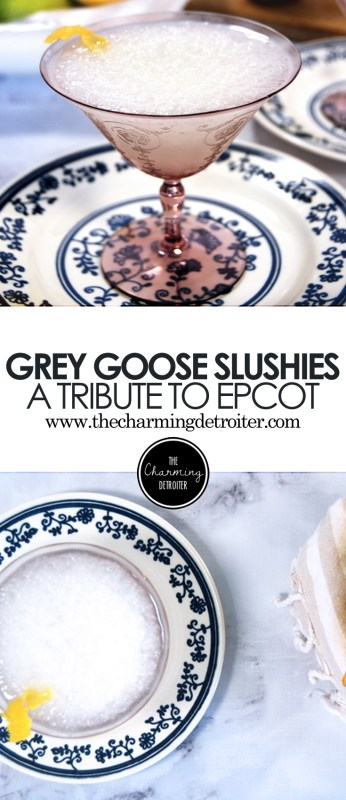 Grey Goose Slushies: A Tribute to Epcot - A yummy make-at-home rendition of a favorite Epcot cocktail, these slushies feature grey goose and homemade simple syrup and sour mix.