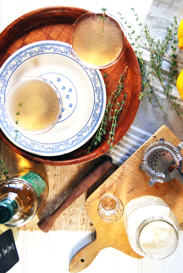 Thyme and Apple Pisco Sour | The Charming Detroiter