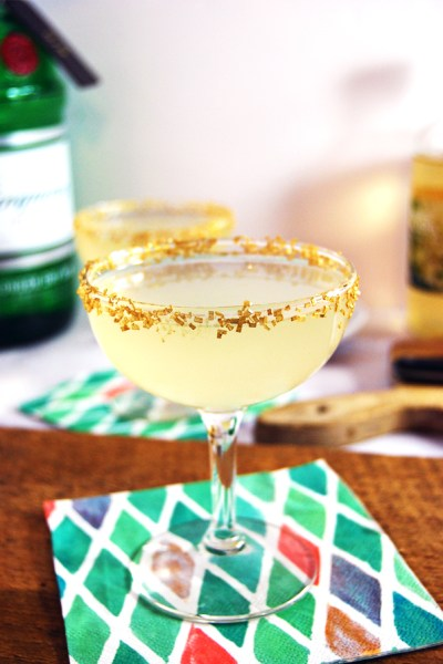 The Resolution: A simple and delicious prosecco cocktail featuring gin, lemon juice, and elderflower syrup.