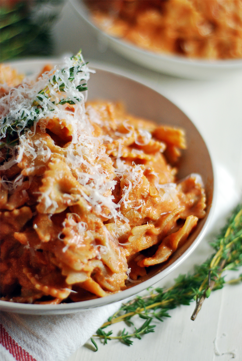Creamy Ricotta Tomato Sauce With Farfalle The Charming Detroiter