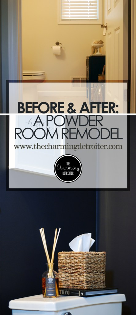 A Powder Room Remodel: Check out my DIY remodel of our powder room into an elegant oasis!