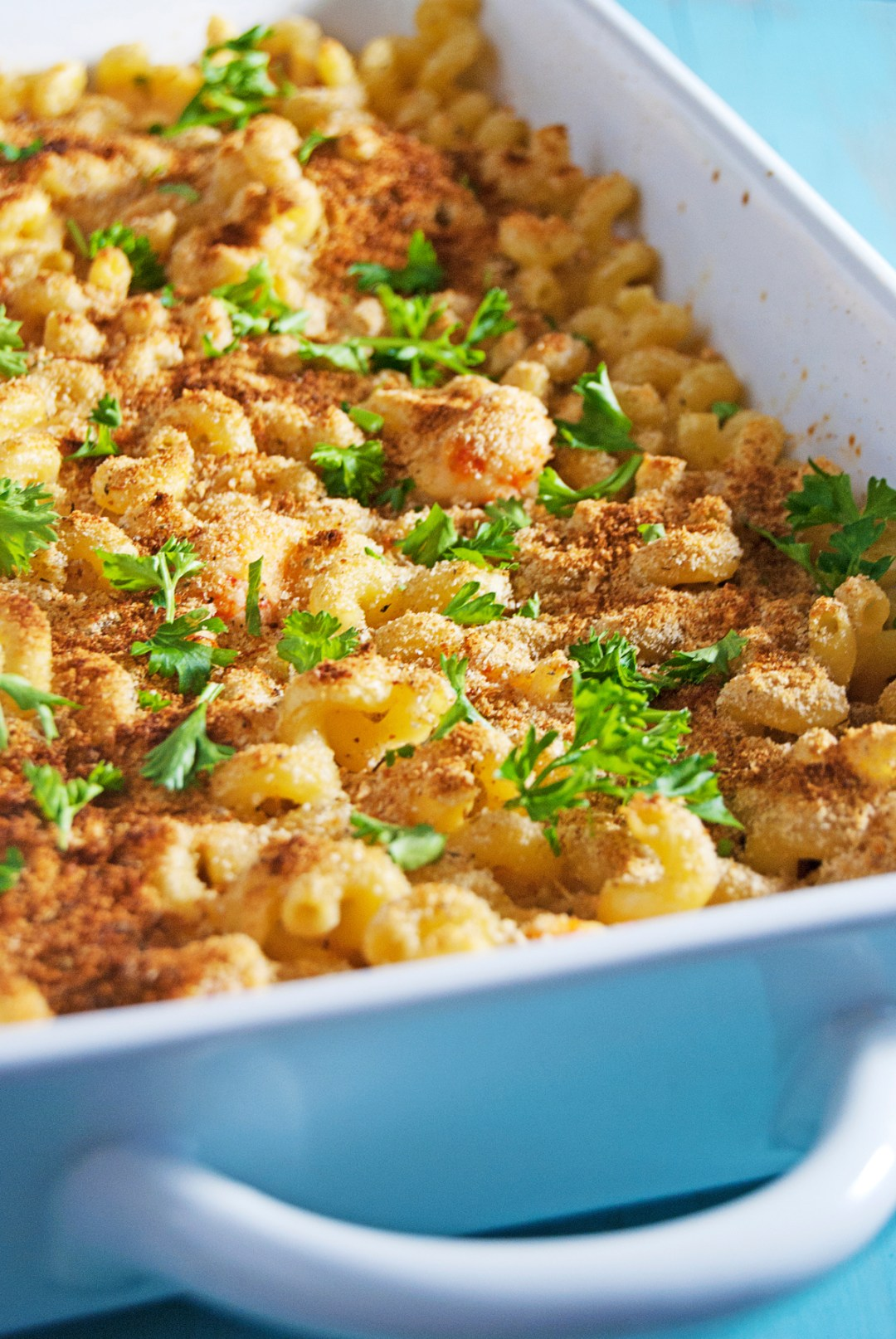 A spicy southern take on a classic, this crawfish mac and cheese is super creamy and filled with delicious southern flavors!