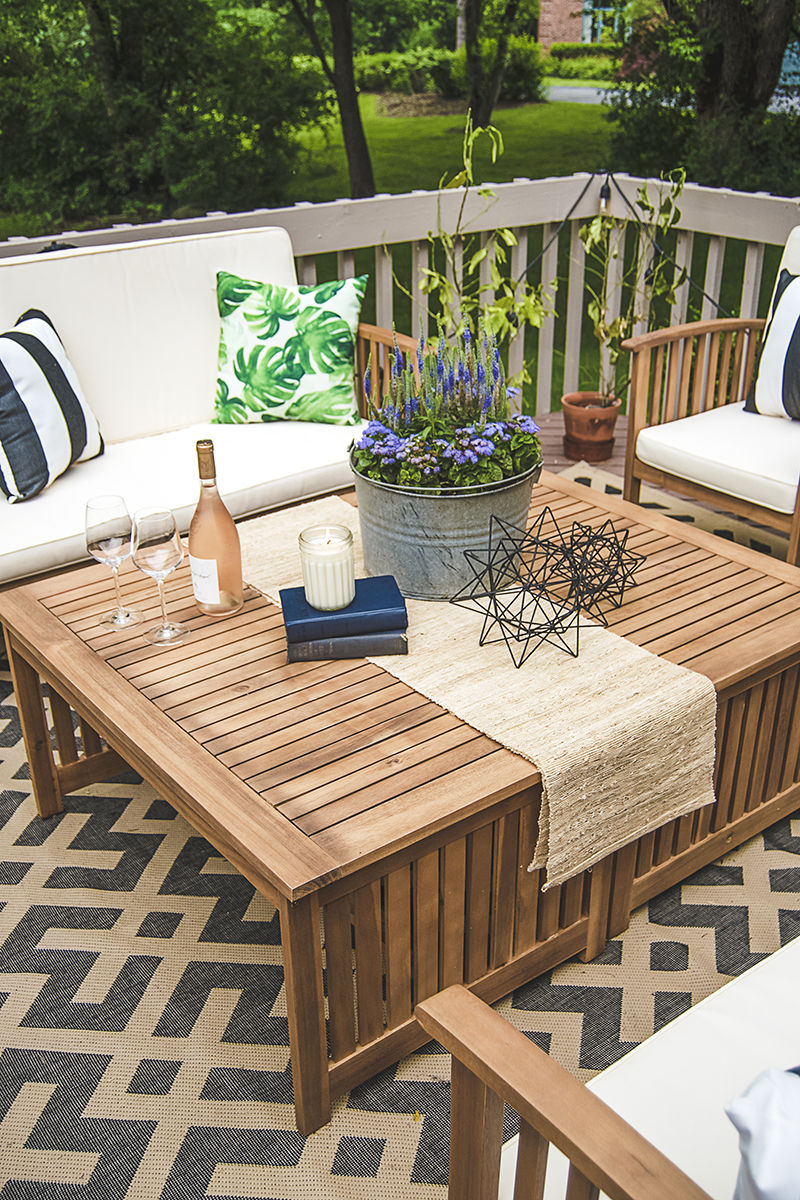 Are You Stumped With How To Plan Your Outdoor Coffee Table Decor? See How I