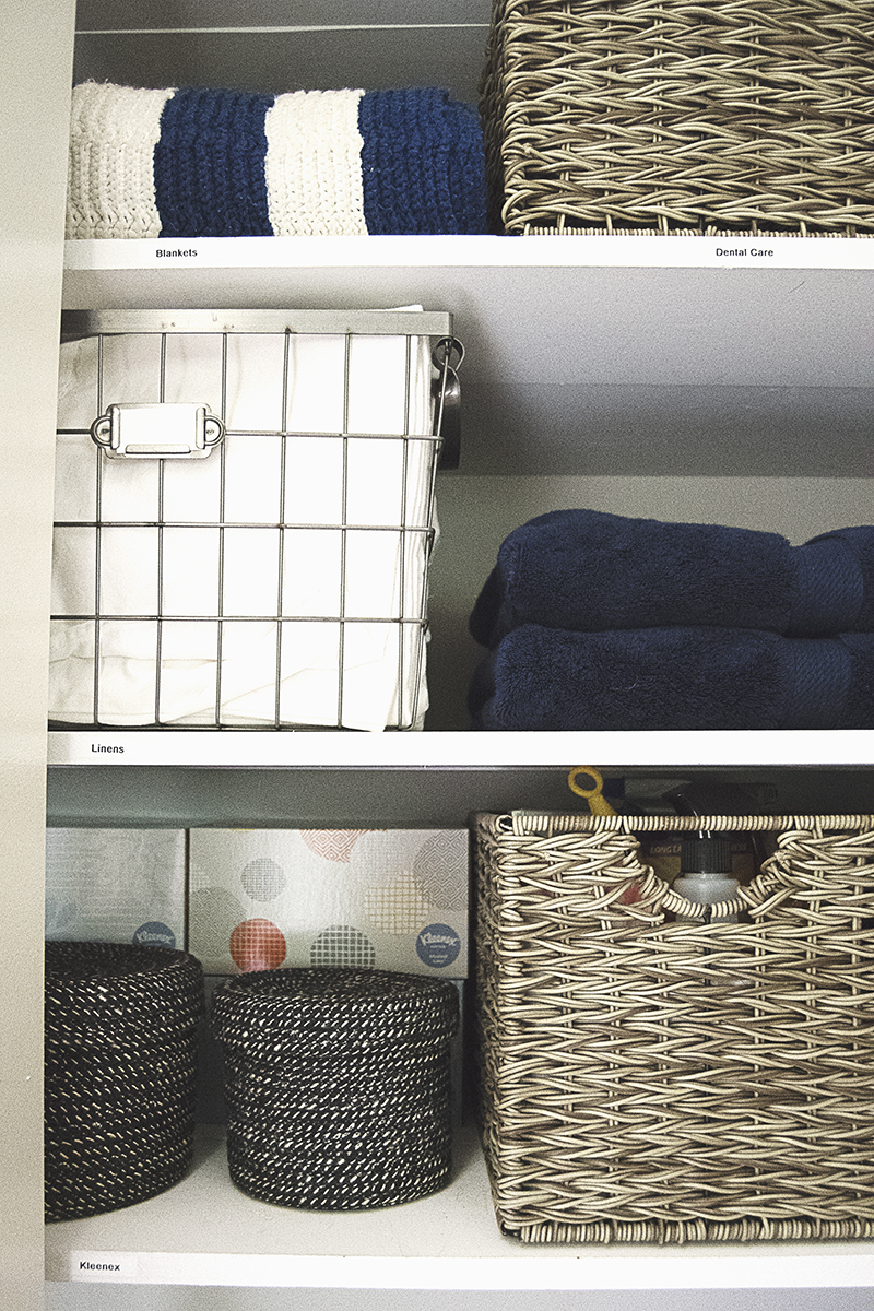 Diy Linen Closet Organization The Charming Detroiter