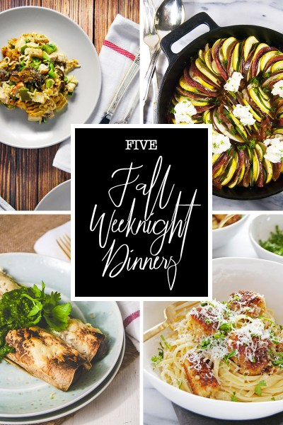 Fall is all about comfort food, and today I'm sharing my favorite fall weeknight dinners that are on the table in under an hour!