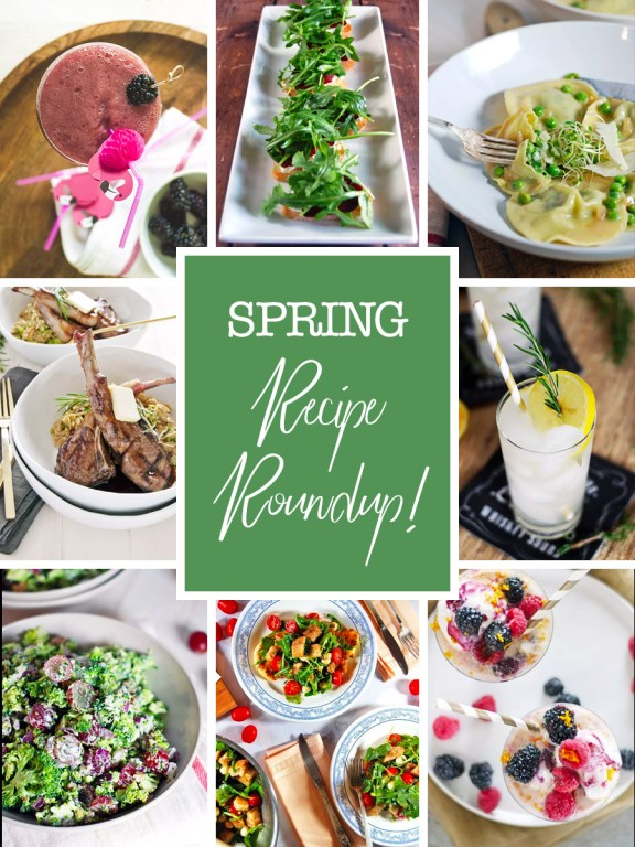 My favorite spring recipes roundup is here on the blog today, featuring everything from refreshing cocktails to delicious grilled dishes and more!