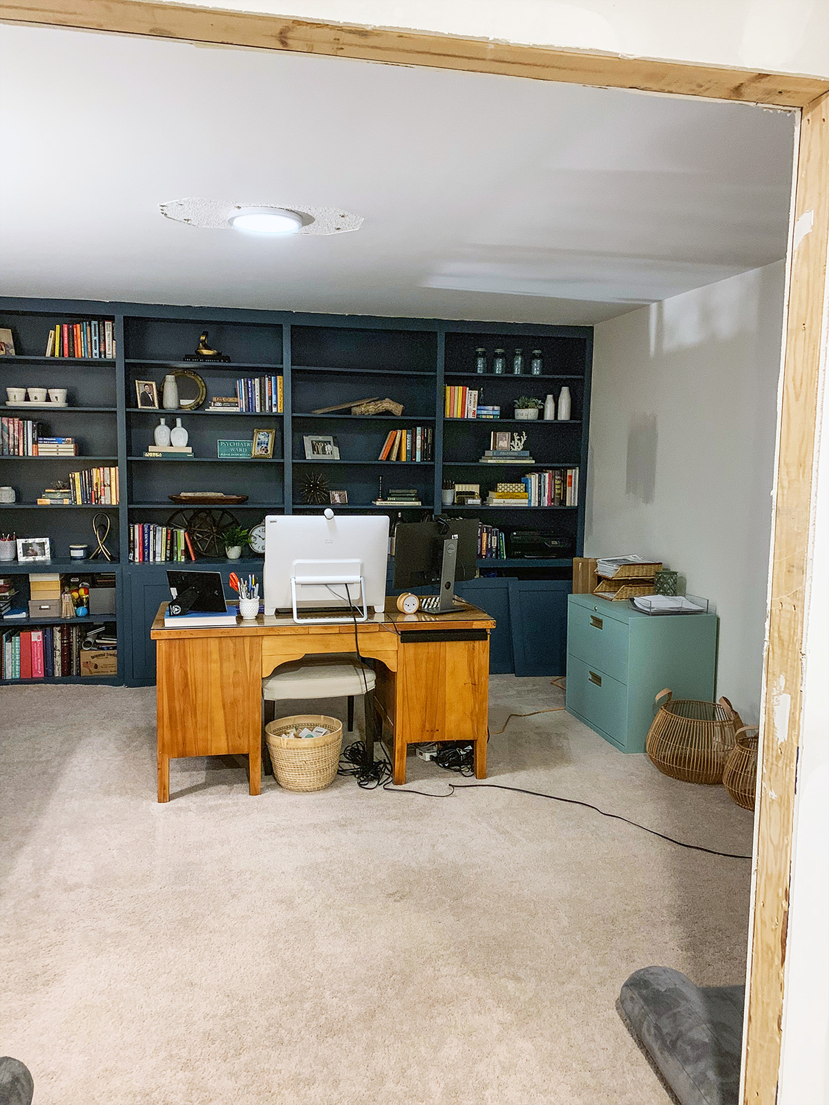 Today I'm sharing my modern farmhouse office, including before and after pics and all the details of how we transformed this space into my ultimate home office!