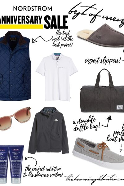 Today I'm sharing the best items from the Nordstrom Anniversary Sale mens section: everything to pick up for that special guy in your life!