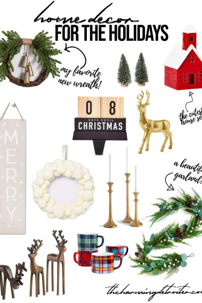 Sharing all my favorite modern farmhouse holiday home decor for the 2020 holiday season on the blog today!