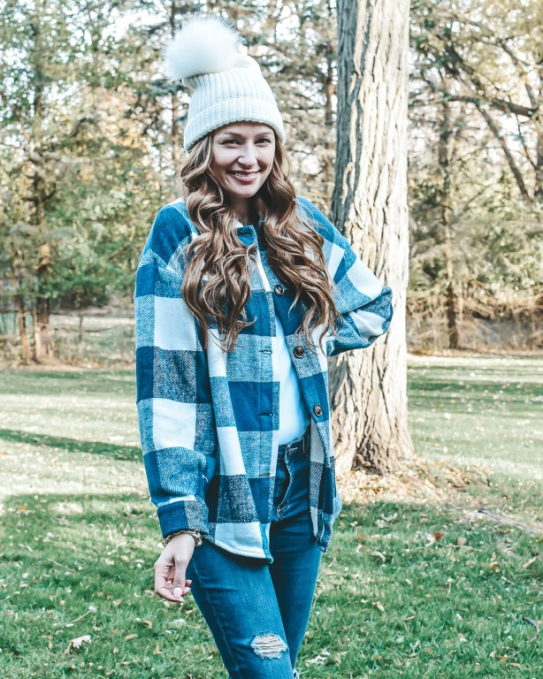 This casual Thanksgiving outfit is perfect for celebrating at home in a comfy cozy way, and is under $25!