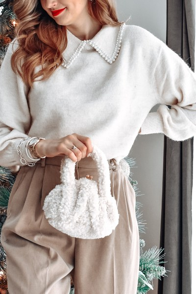 Today I'm sharing the perfect pearl sweater and this beautifully clean and neutral look, just perfect for the holidays!
