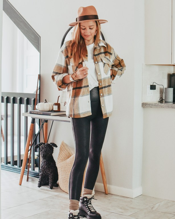 I'm sharing one of my favorite fall 2021 trends: the shacket! This cozy shacket look is the perfect casual autumn look and I've got lots of other fantastic plaid shackets for you today too!