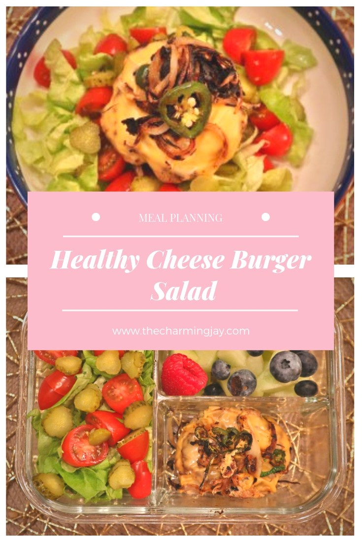 Meal Planning: Healthy Cheese Burger Salad