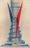Avant-garde architect Konstantin Mel'nikov's proposed monument to Columbus, 1929.