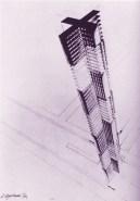 Nikolai Ladovskii's proposed monument to Christopher Columbus, 1929
