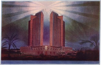 Vladimir Tarasov, proposal for a monument to Christopher Columbus in Santo-Domingo (1929)
