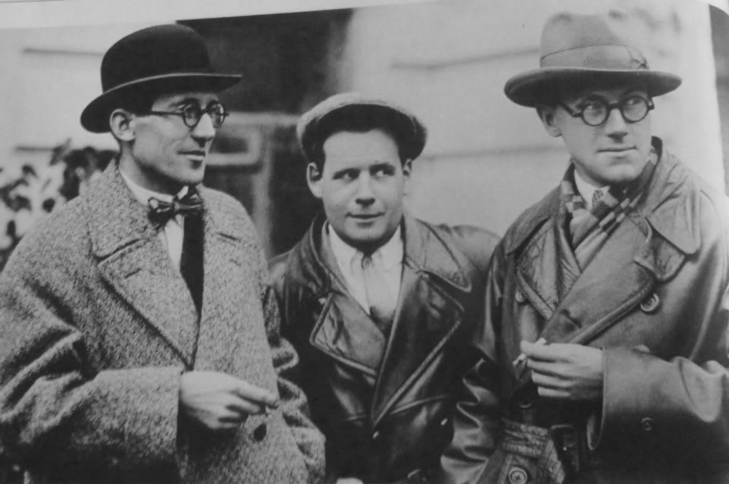 Le Corbusier with Sergei Eisenstein and Andrei Burov (1928)