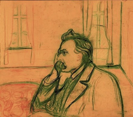 Nietzsche, by Edvard Munch 1906)