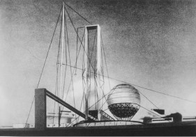 Ivan Leonidov's famous design for the Lenin Institute (1927)