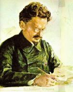Colored drawing of Leon Trotsky, 1925