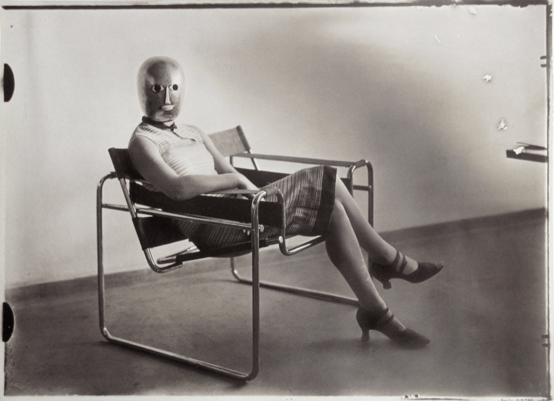"Ilse Gropius sits in ""The Kandinsky"" chair by Marcel Breuer (1926)"