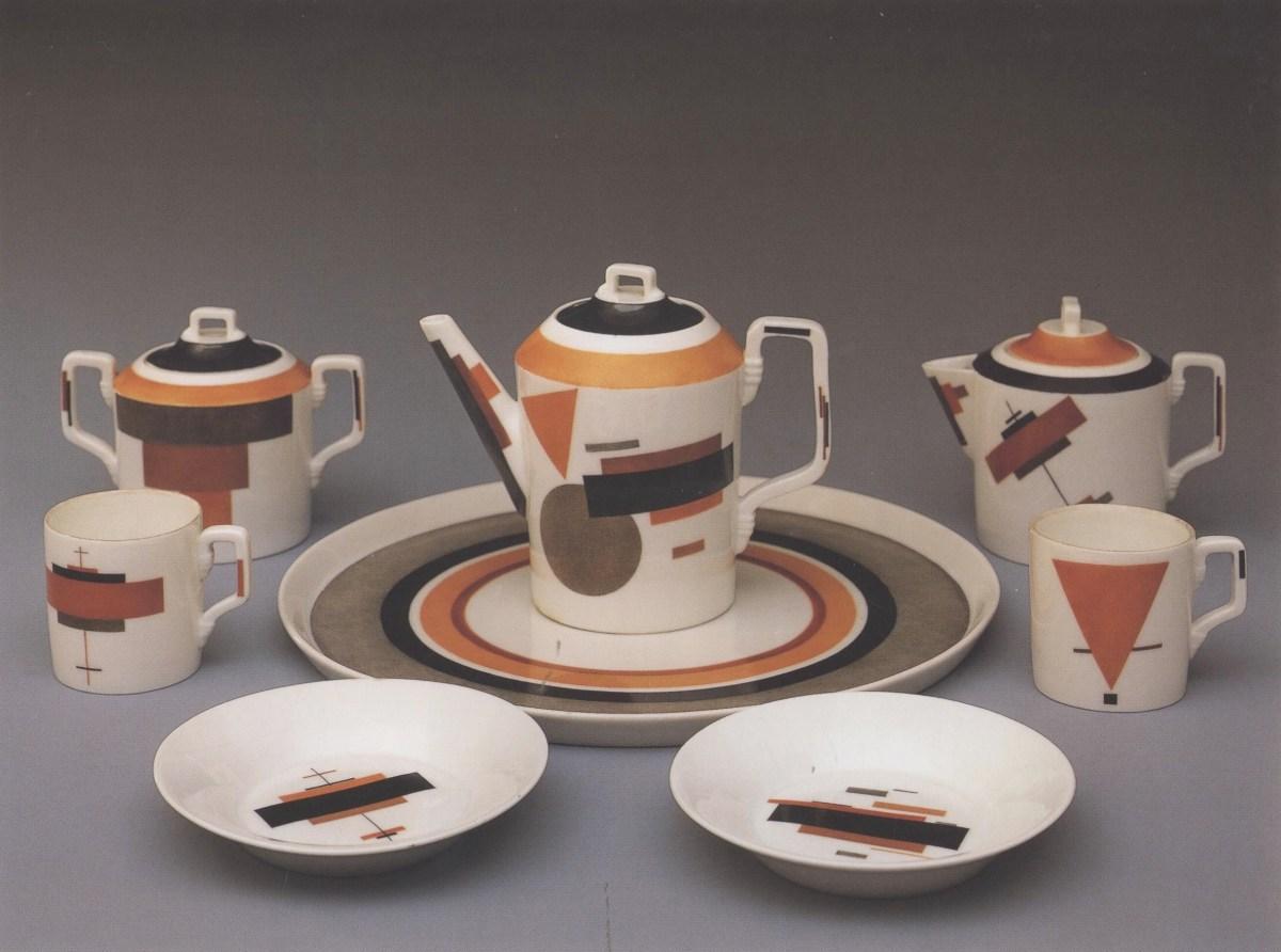 Nikolai Suetin, Suprematist plateware, 1922-1928. russian avant-garde