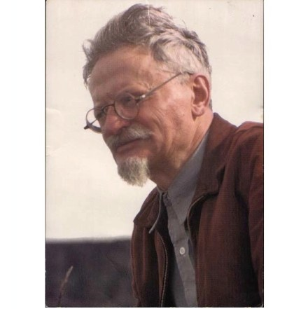 Color photo of Trotsky (1940)