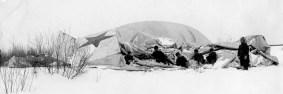 Вывод дирижабля %22VI Октябрь%22 из эллинга (1923)
