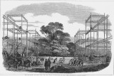 Sketch of the exterior of the Crystal Palace at Hyde Park under construction (1851)