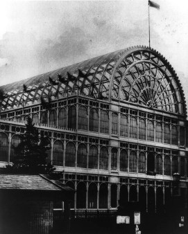 Photograph of Paxton's 1851 Crystal Palace at Hyde Park
