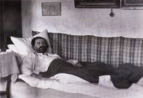 Malevich in his sickbed, approaching death (1935)