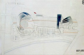 Hannes Meyer's submission to the Palace of the Soviets competition, view from above