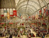 Color sketch of the interior of the Crystal Palace at Hyde Park (1851)