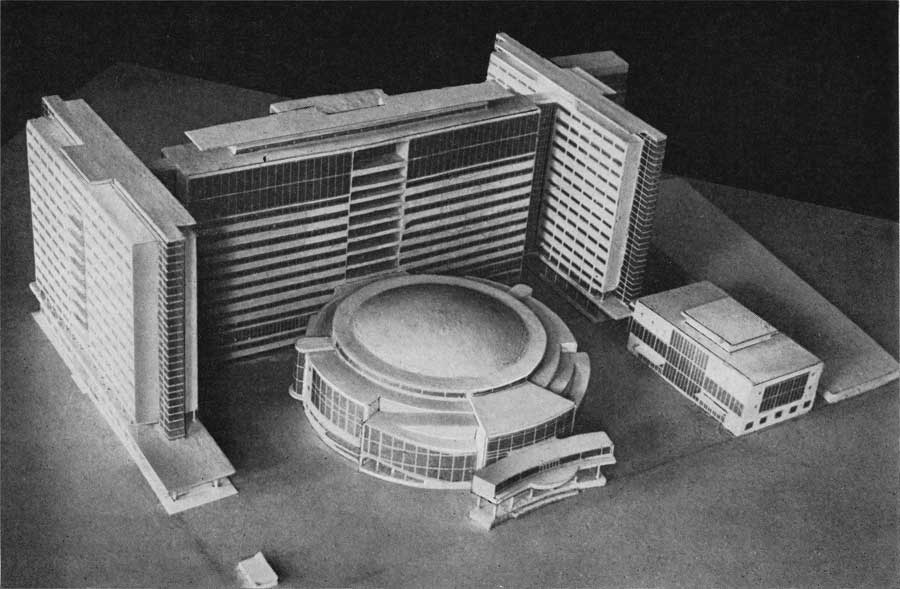 Le Corbusier, model of Tsentrosoiuz (1928)