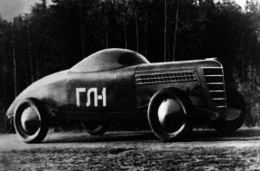 ГЛ-1 (1940) Гоночный автомобиль на шасси ГАЗ-М1 с форсированным двигателем ГАЗ-11. 1940