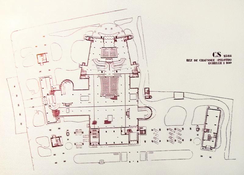 Le Corbusier, plan for Tsentrosoiuz (1928)