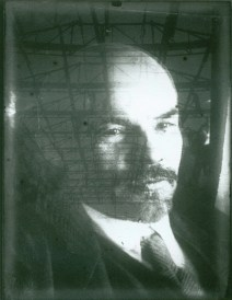 Gustav Klutsis, photomontage of Lenin commemorating his campaign of electrification (1925)