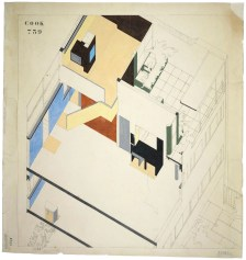 Cutaway revealing the interior to Le Corbusier's Villa Cook, 6 Calle Denfert-Rochereau, Boulogne-sur-Seine (1926)