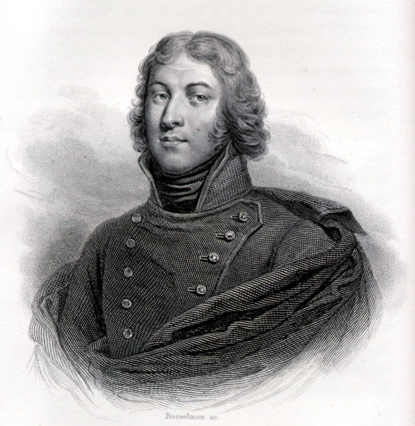 Historical depiction of the revolutionary general Louis-Lazare Hoche